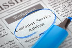 Customer Service Advisor Join Our Team Stock Illustration