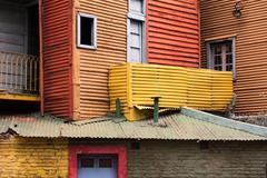 Buenos Aires Argentina barrio la boca painted house - stock photo