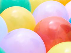 Balloons showing splendid colors closeup. Stock Photos