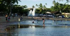 Summer day at Praia do Forte, Bahia, Brazil Stock Footage