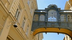 Memorial bridge in Szeged, Hungary Stock Footage
