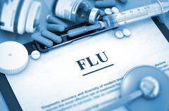 FLU. Medical Concept - stock illustration