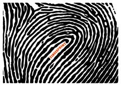 Black fingerprint shape secure. identification ID finger. Vector illustration - stock illustration