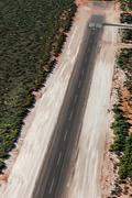 Aerial view of Shark Bay Small desert airport in Australia Kuvituskuvat
