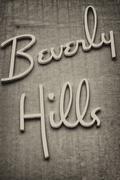 Beverly hills los angeles sign on a wall Stock Photos