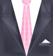 abstract gray suit - stock illustration