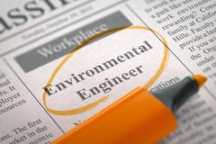We are Hiring Environmental Engineer Stock Illustration