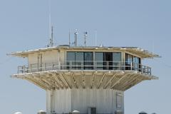LA los angeles venice beach tower Stock Photos