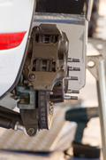 Rally race car brake system detail close up - stock photo