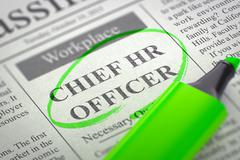 We're Hiring Chief HR Officer - stock illustration