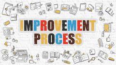 Improvement Process in Multicolor. Doodle Design - stock illustration