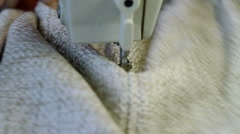 Manufacture of furniture Sewing of covers for the cushions on the sewing machine Stock Footage