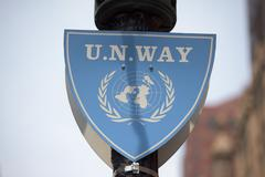 united nations way sign detail - stock photo