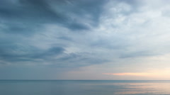 Golden Sunset Blue Clouds at Sea Time Lapse Stock Footage