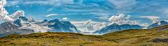 Canada Icefield Park glacier landscape - stock photo