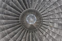 Jet Airplane turbine engine Stock Photos