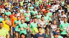 City marathon in Kiev Stock Footage