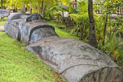 Easter island moai stone statue Stock Photos