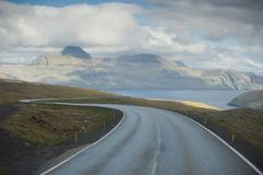 Faer Oer Far landscape a road to nowhere - stock photo