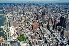 NEW YORK - USA - 13 JUNE 2015 city view from highest in the city freedom towe Stock Photos
