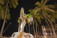 duke paoa kahanamoku tribute to surf creator - stock photo