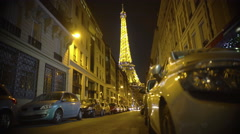 Eiffel Tower sparkling brightly with millions of lights, romantic night in Paris - stock footage