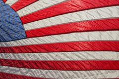 Usa American flag stars and stripes while weaving Stock Photos