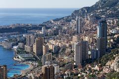 Montecarlo monaco panorama landscape city view Stock Photos