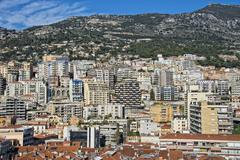 montecarlo monaco panorama landscape city view - stock photo