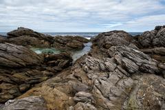 Rocks of vivonne bay kangaroo island landscape Stock Photos