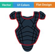 Baseball chest protector icon - stock illustration