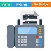 Fax icon - stock illustration