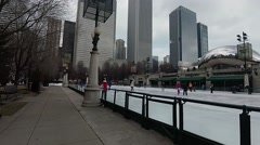 Ice Skating in Millennium Park 2 Stock Footage