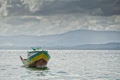 Bunaken indonesian fisherman village in Sulawesi Island Stock Photos
