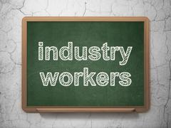 Industry concept: Industry Workers on chalkboard background Stock Illustration