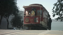 San Fransisco Cable Car Stock Footage