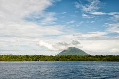 Bunaken indonesian fisherman village in Sulawesi Island - stock photo