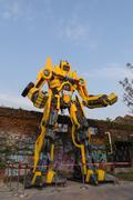 Big Transformers statue in Kaohsiung, Taiwan Stock Photos