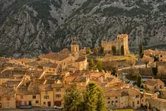 high provence mountain road village in france - stock photo