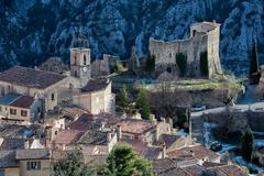 provence mountain village on saint paul de vence road in France - stock photo