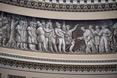 Washington DC internal capitol dome painting Stock Photos