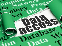 Data concept: black text Data Access under the piece of  torn paper - stock illustration