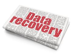 Data concept: Data Recovery on Newspaper background - stock illustration