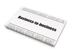 Finance concept: newspaper headline Business-to-business Stock Illustration