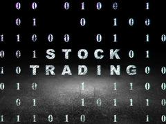 Business concept: Stock Trading in grunge dark room Stock Illustration