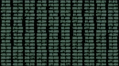 A data grid of streaming numbers - Data Storm 0583 HD, 4K Stock Video - stock footage