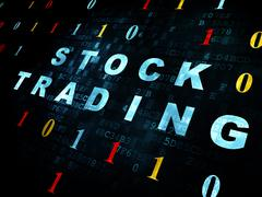 Finance concept: Stock Trading on Digital background Stock Illustration