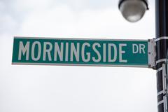 Green new york street sign: Morningside DR Kuvituskuvat