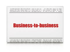 Business concept: newspaper headline Business-to-business - stock illustration