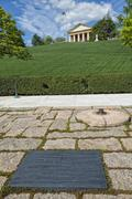 JFK Memorial at Arlington Cemetery Washington DC - stock photo